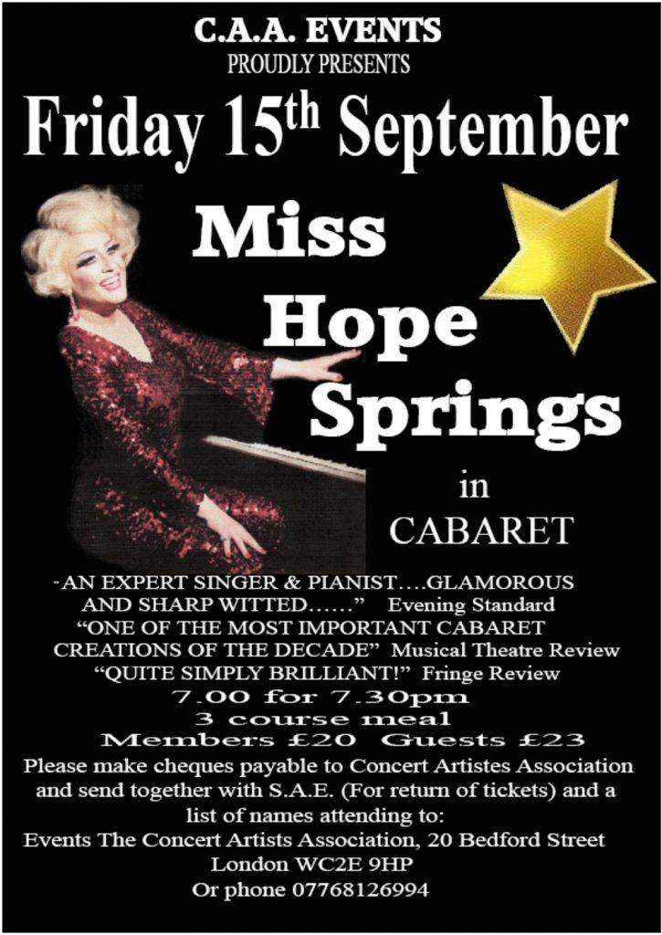Miss Hope Springs Flyer