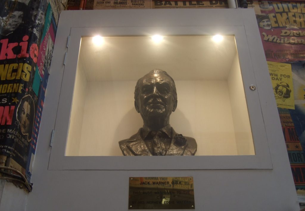 Bust of Jack Warner OBE
