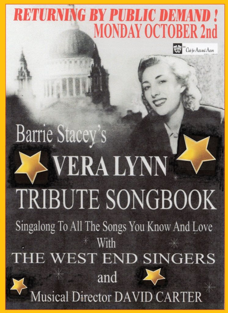 Vera Lynn Tribute Night Flyer
