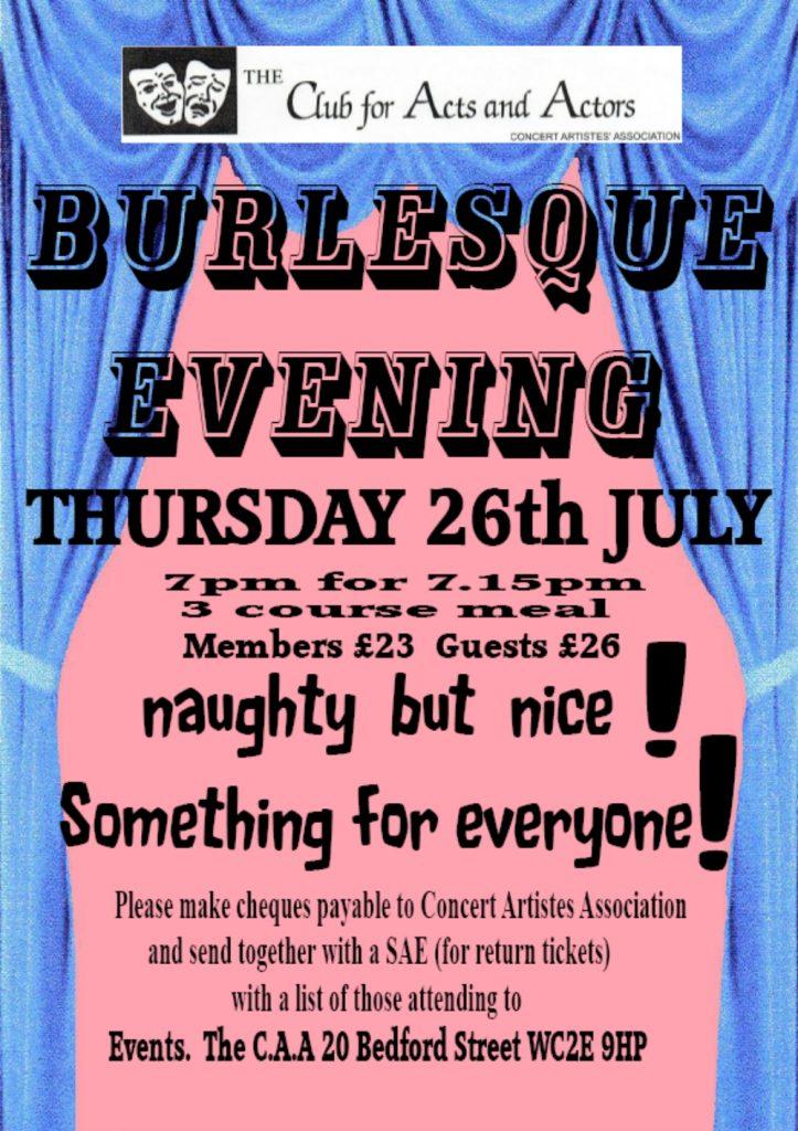 Burlesque Evening Flier