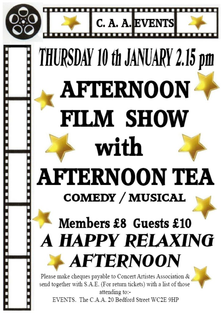 Afternoon Film Show Poster