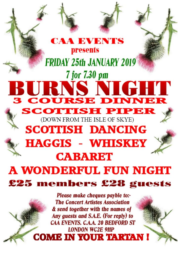 Burns Night Dinner Poster
