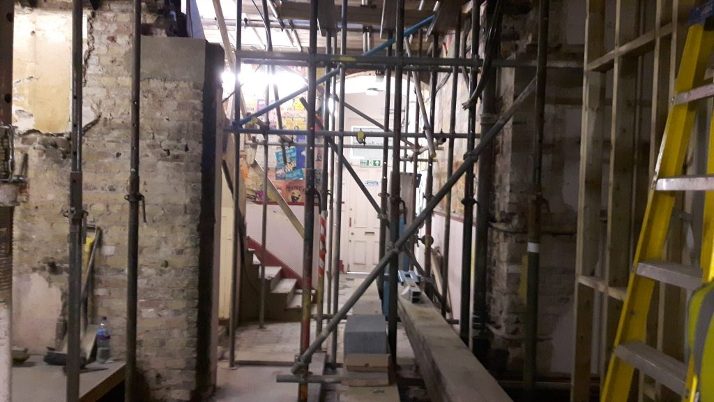 Entrance hall under construction