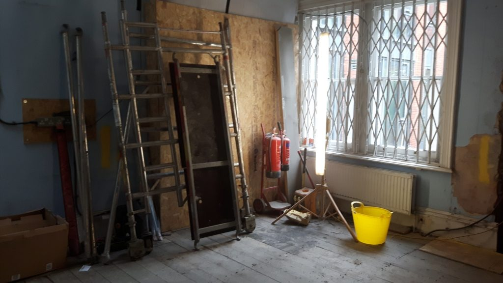 The office under refurbishment