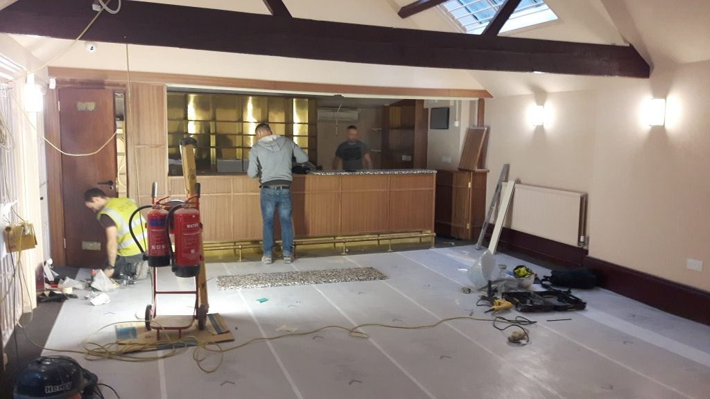 Bar refurb from entrance image